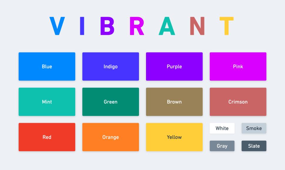 Example of a fun vibrant color theme
