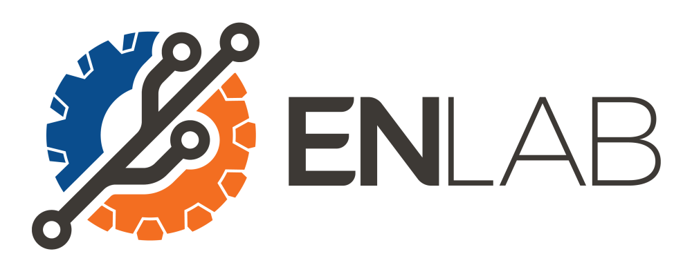En Lab Coworking Space logo with extended title