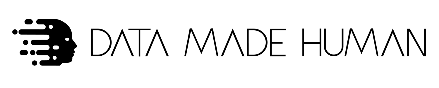 Black logo of Data Made Human in Vancouver, BC.