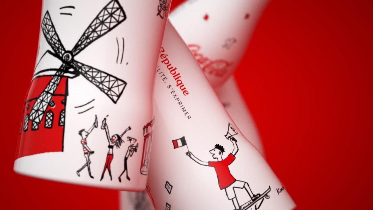 Pour la marque Coca-Cola production d'une vidéo moodtape pour une agence de publicité..