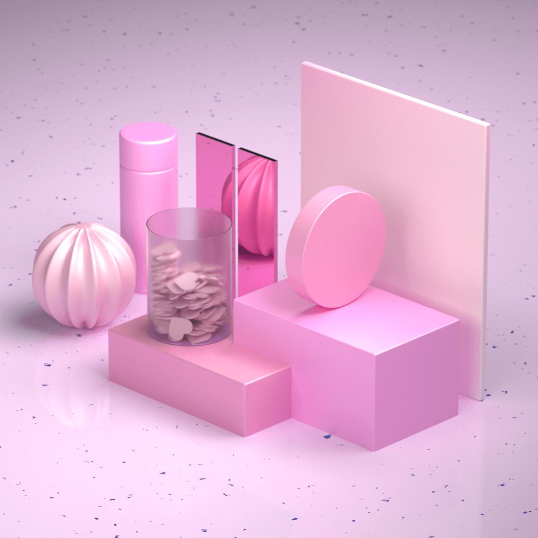 Visuel minimaliste représentant une composition graphique.