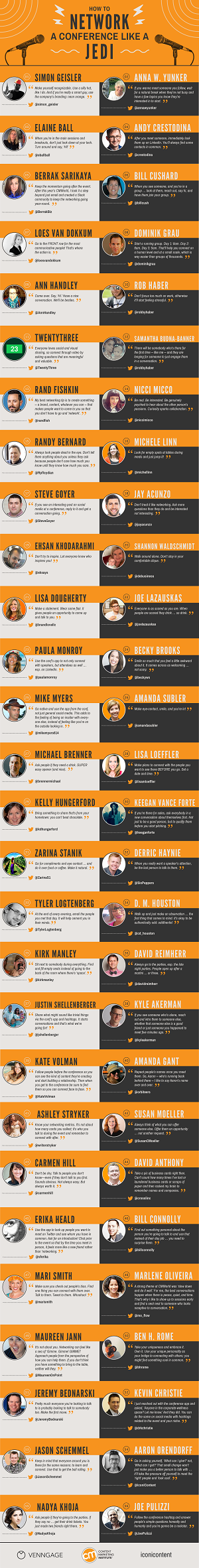 How to Network a Conference (Infographic)