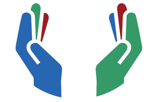 open hands giving clip art