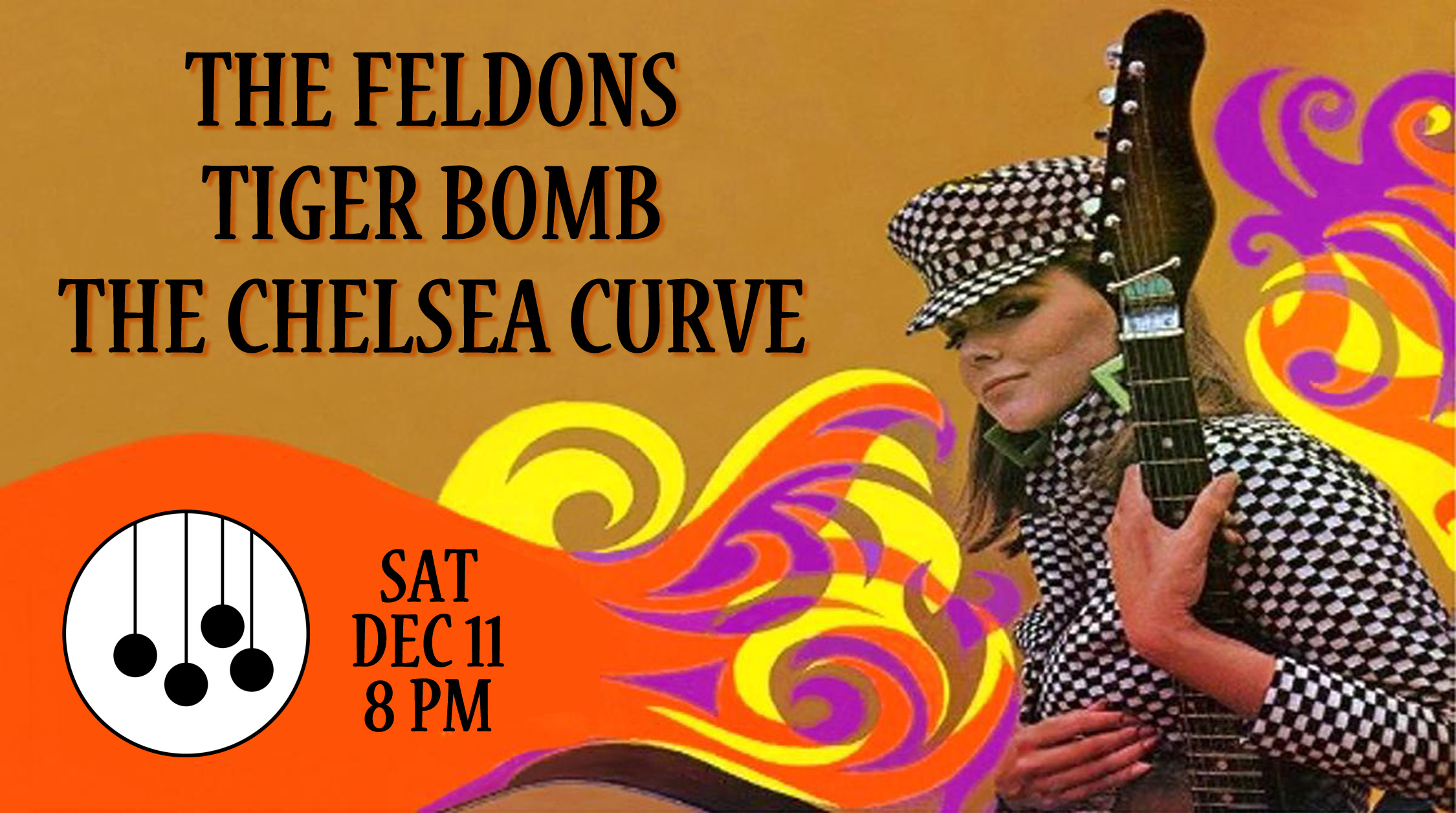 The Feldons with Tiger Bomb & The Chelsea Curve