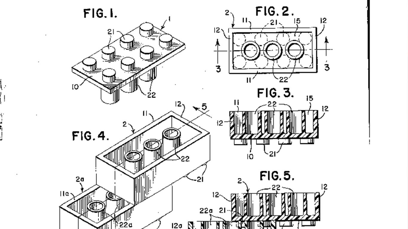 Lego brick patent application