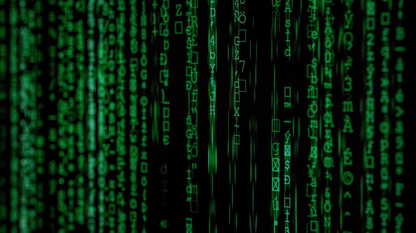 Algorithm code on a screen