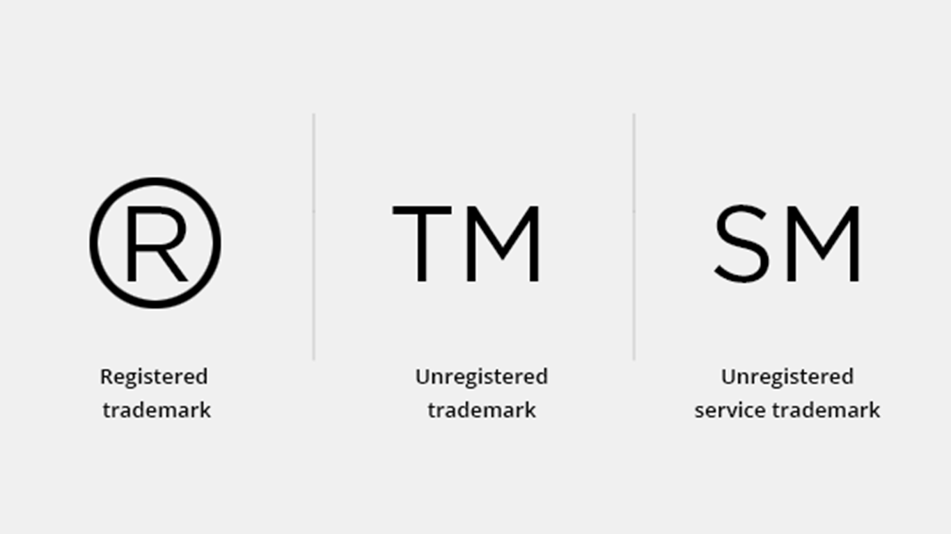 Trademark, Register, and Copyright symbols.