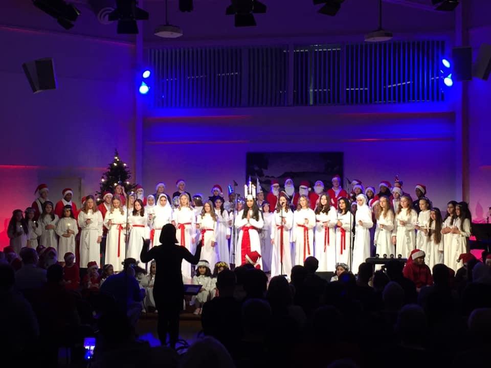 Elevernas Luciakonsert med Beata Ernman gjorde succé