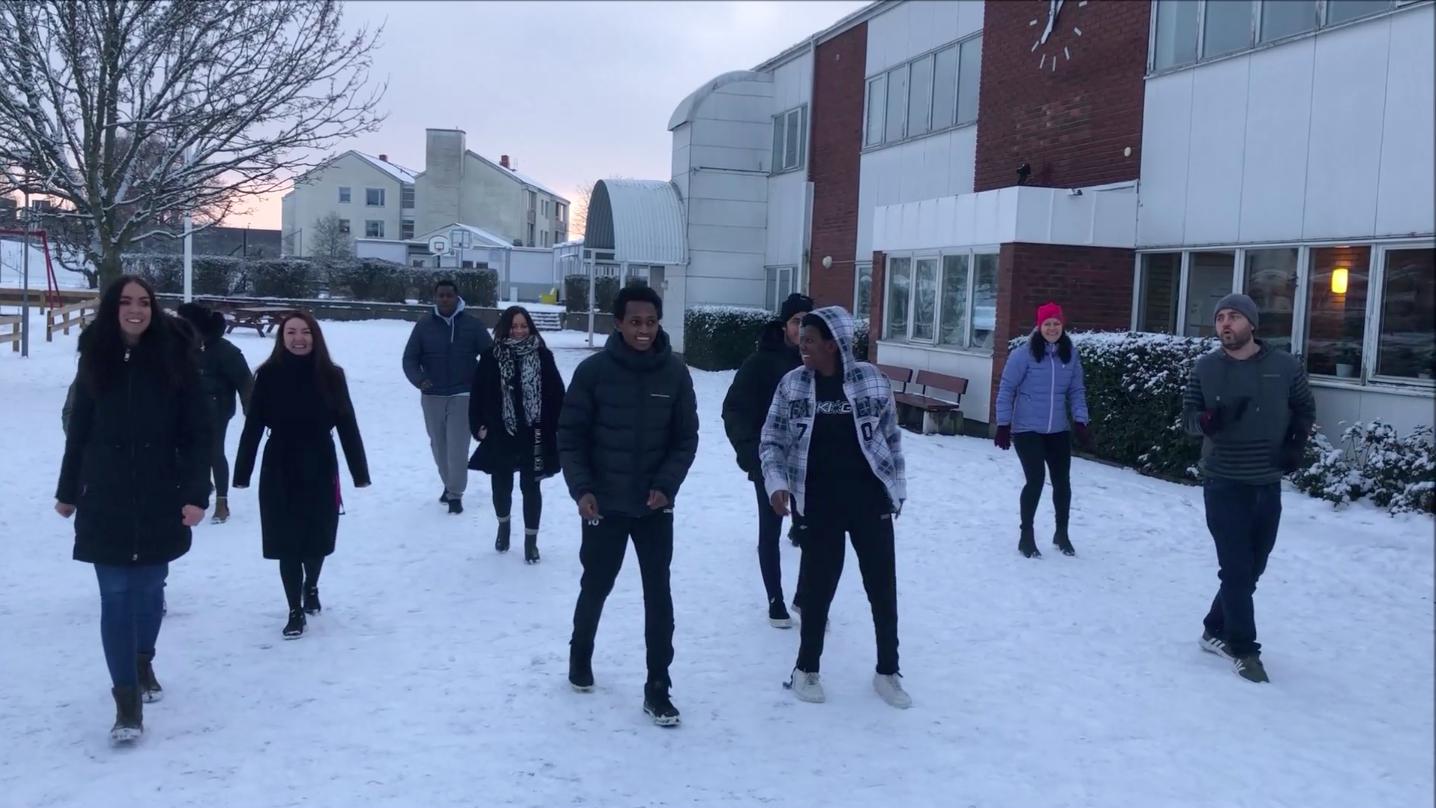 Thoren Framtid Kalmar fixade Jerusalema Challange – nu skickar skolan utmaningen vidare