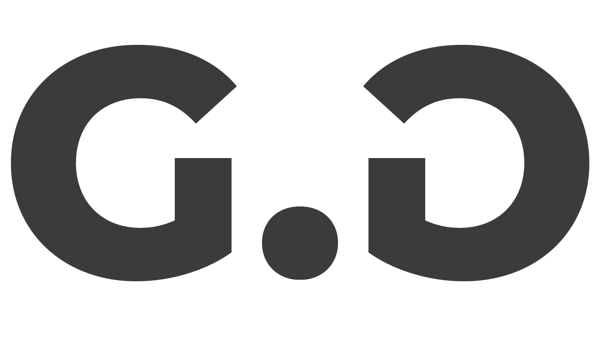 Griff Design's secondary grey panda eyes logo design