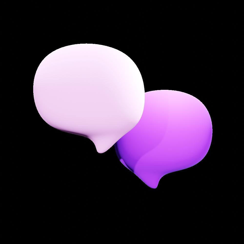 bulles de chat 3D