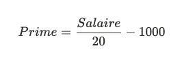 formulaire mathématique - calcul de la prime de cooptation