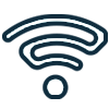 the signal icon which looks like a wifi signal