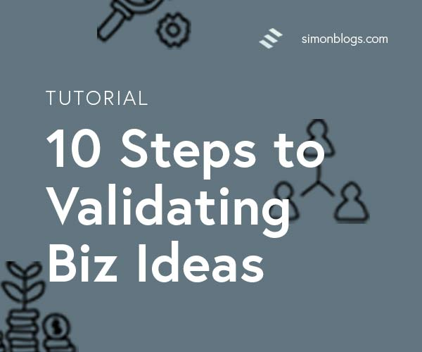 A doodle of icons showing steps to validate a business