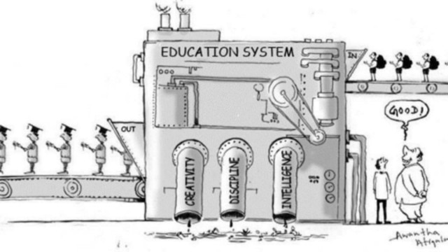 Cartoon about schooling systems