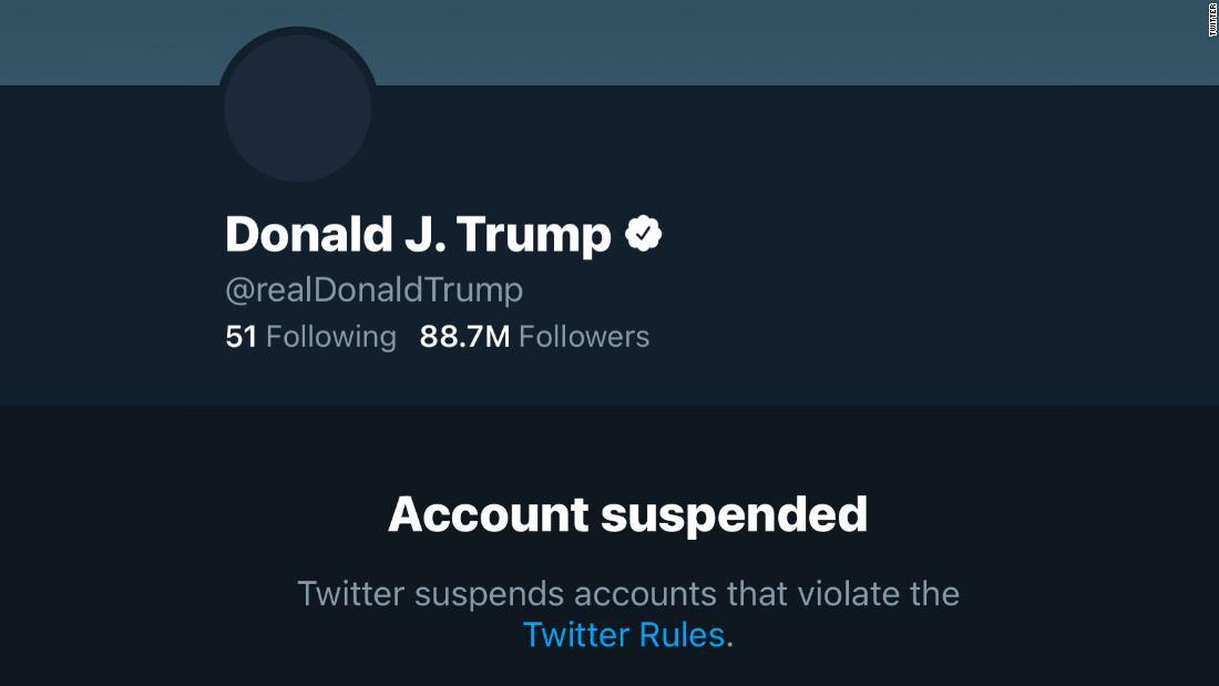 Twitter bans President Trump's account - CNN