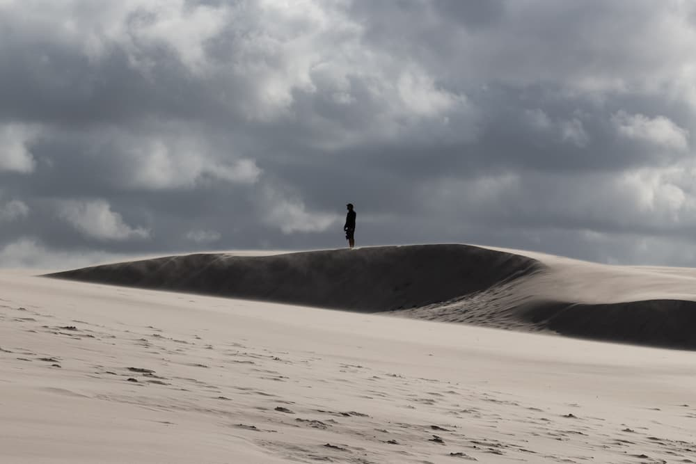 a person standing alone