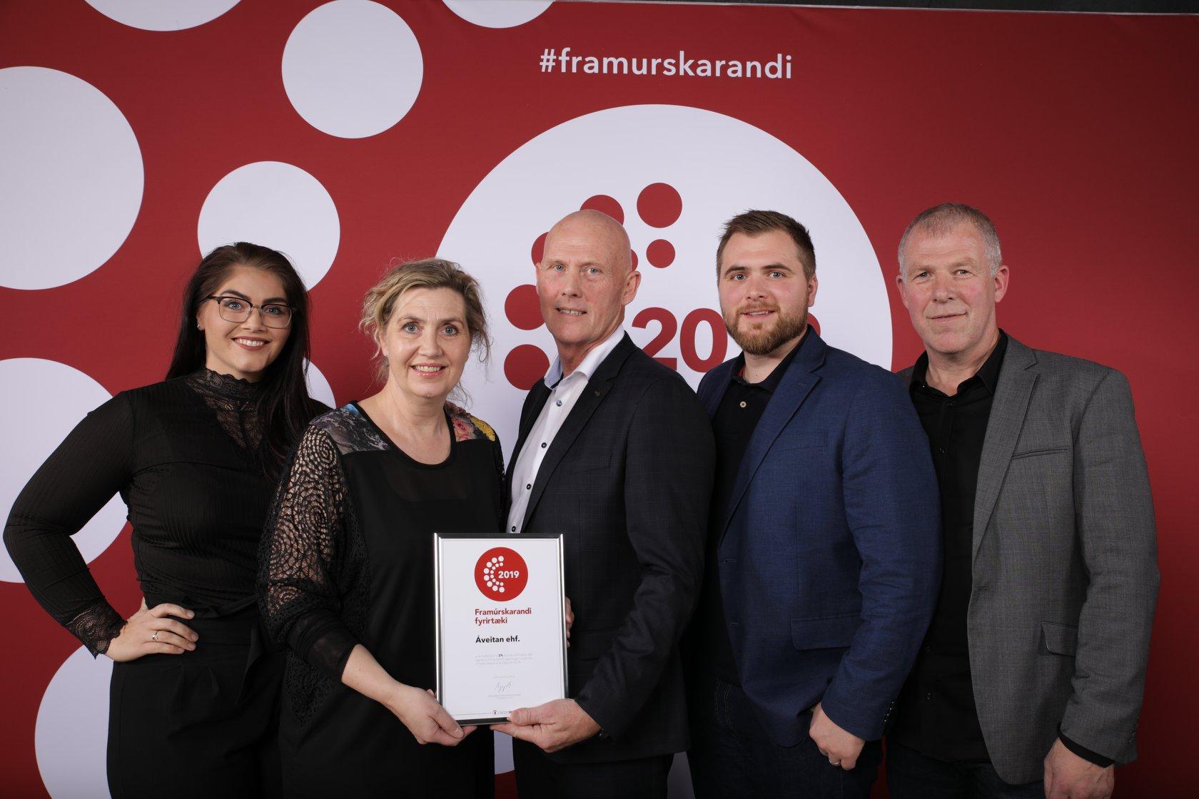 Áveitan ehf. fær viðurkenningu Framúrskarandi fyrirtæki 2020