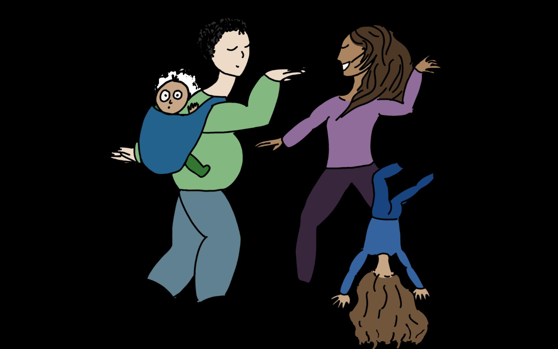 Expression corporelle parents-enfants