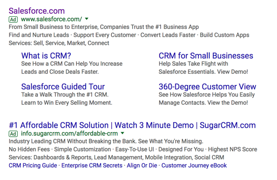 SalesForce on Google