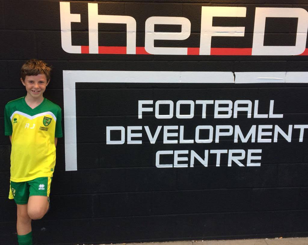Congratulations to Riely Justice who has just been signed by Norwich City Academy