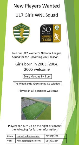 New Girls for our U17 Team