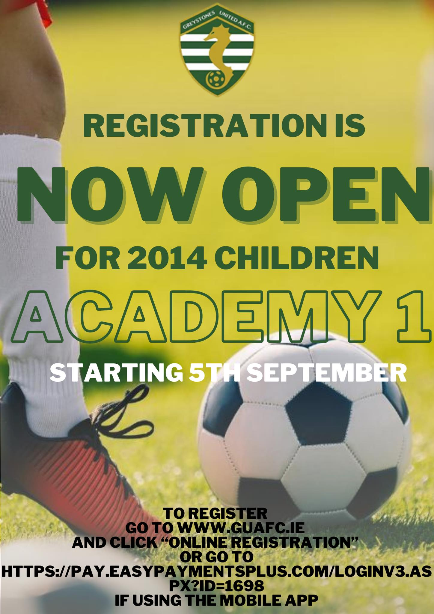 Academy 1 Sign Up Now