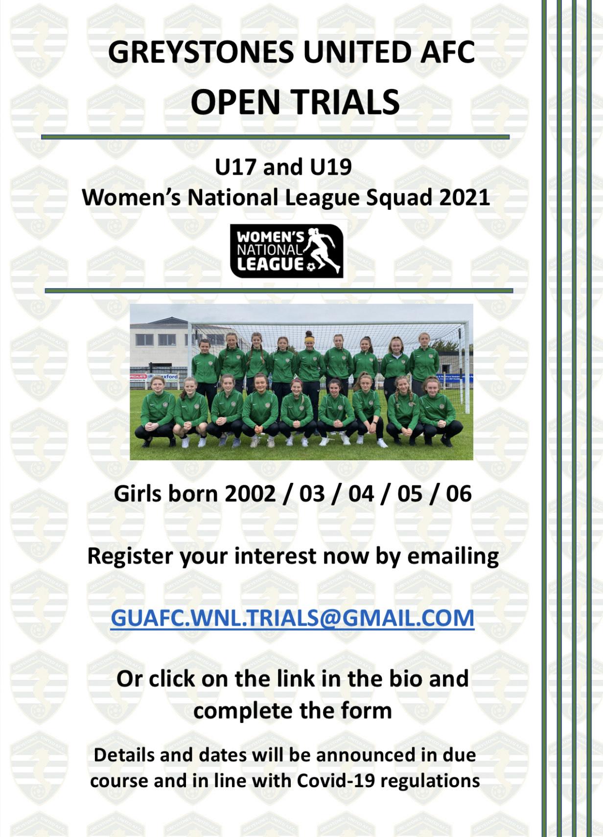 2001 U17 & U19 WNL trials