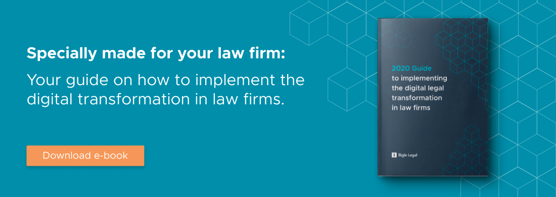 Digital legal transformation in law firms.