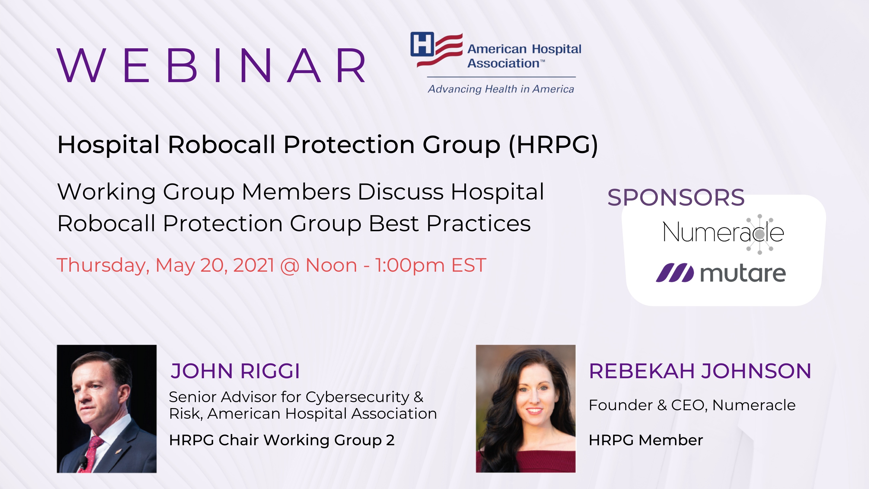 Working Group Members Discuss Hospital Robocall Protection Group (HRPG) Best Practices