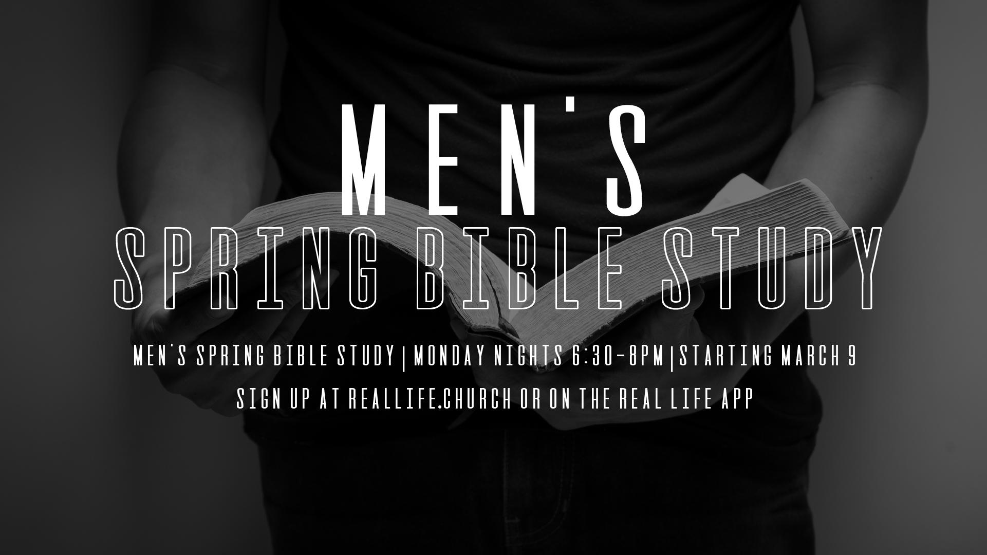 Men's Spring Bible Study