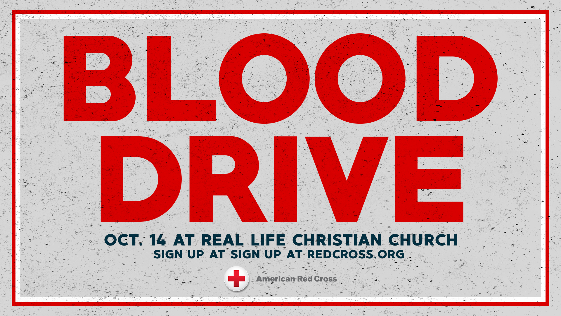 Red Cross October Blood Drive