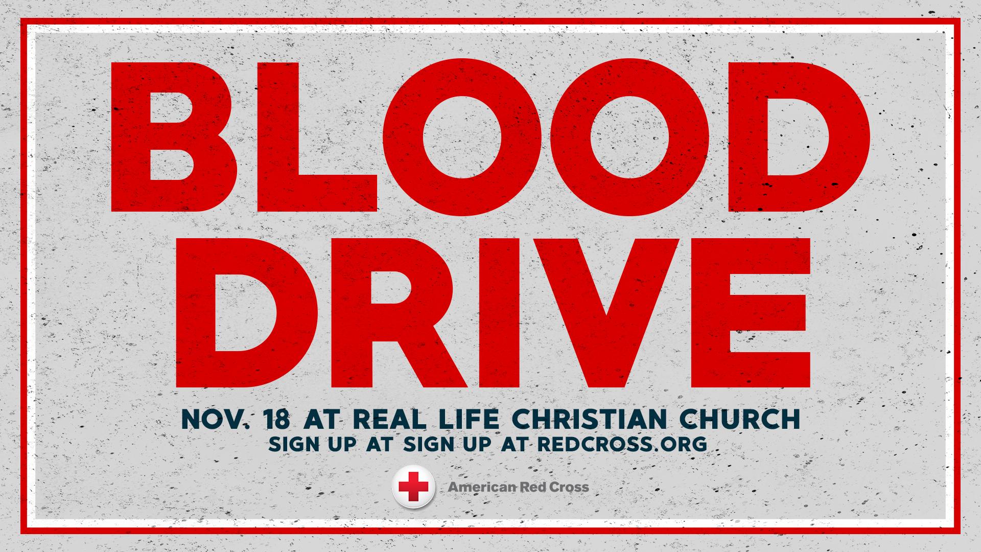 Red Cross November Blood Drive