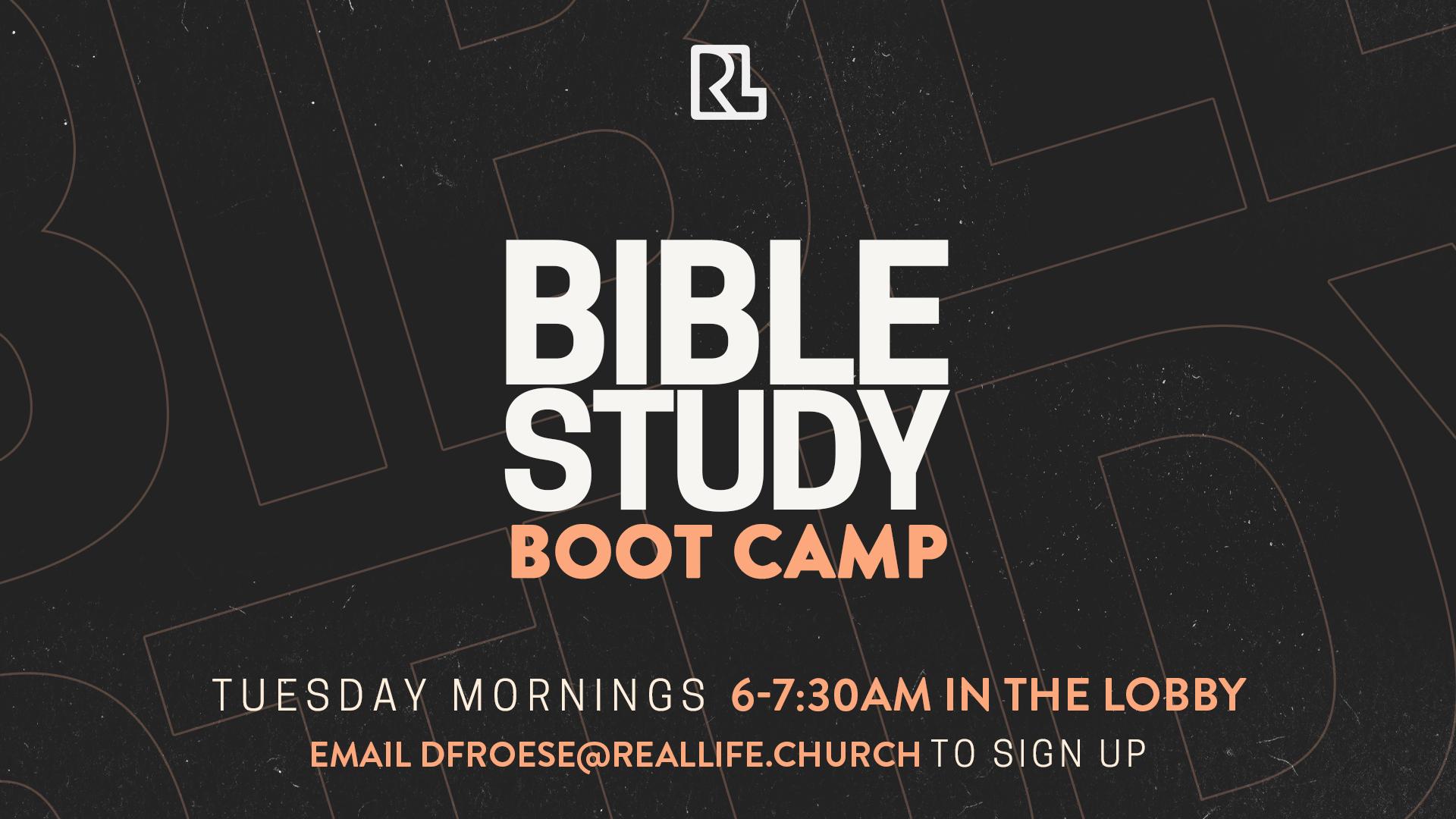 Bible Study Boot Camp