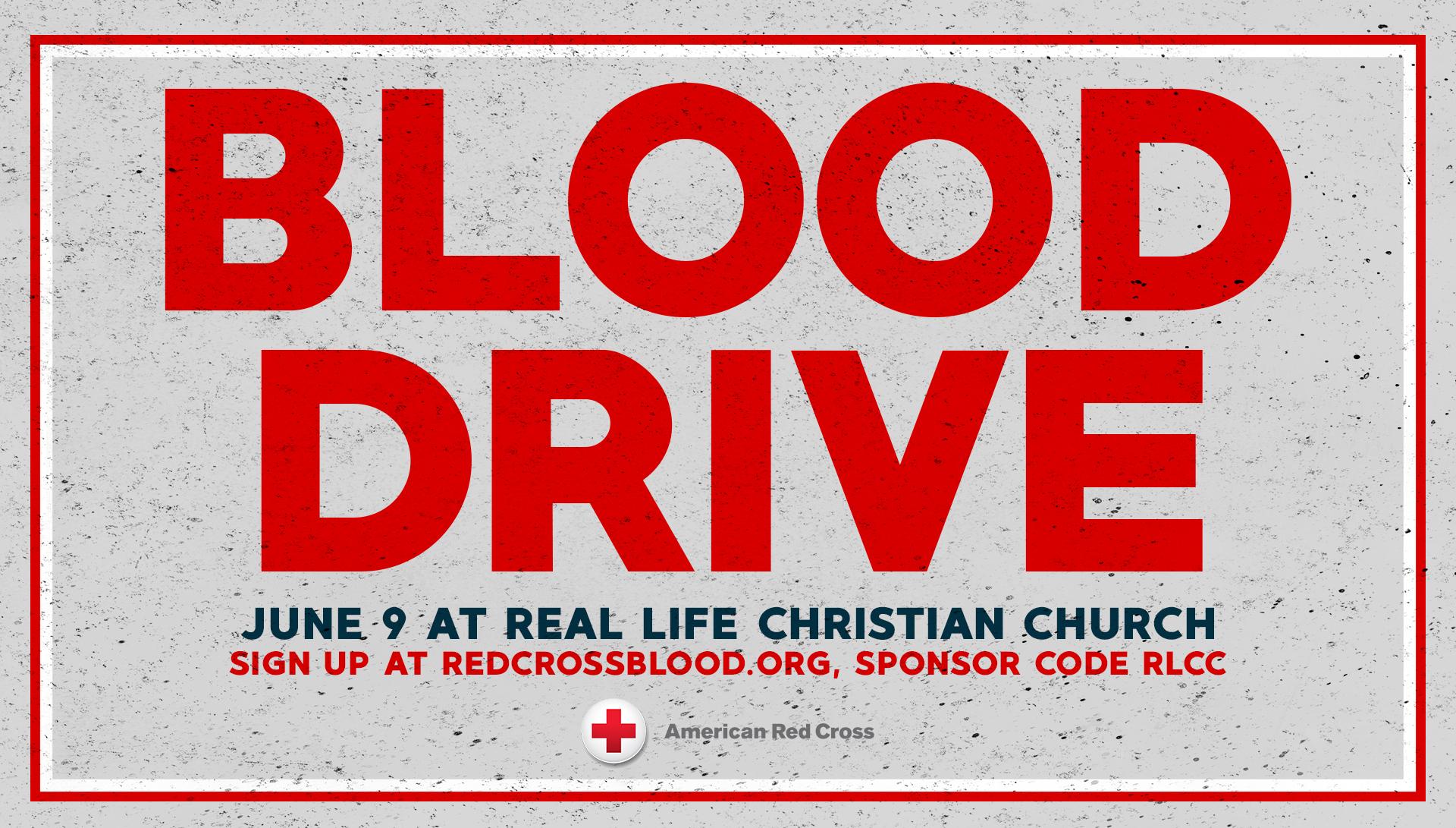 Red Cross June Blood Drive
