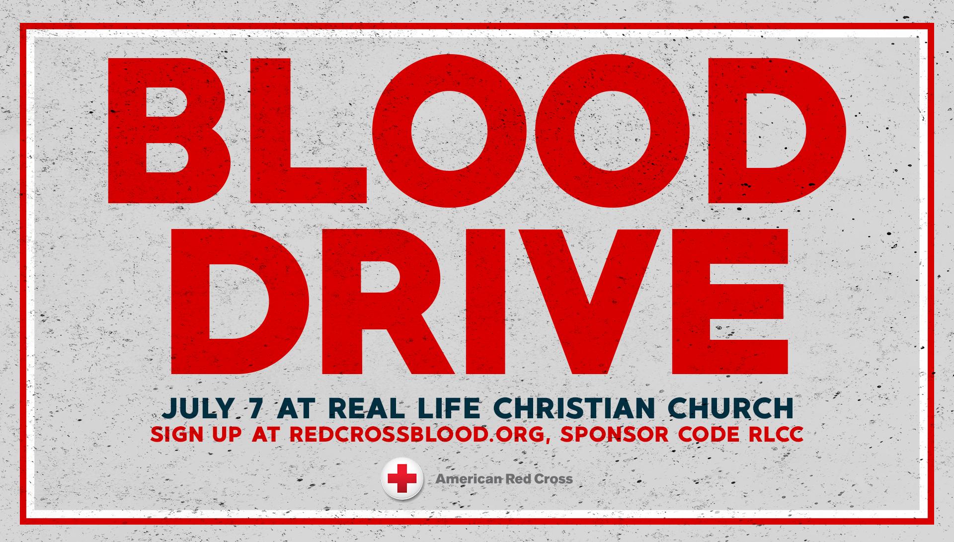 Red Cross July Blood Drive