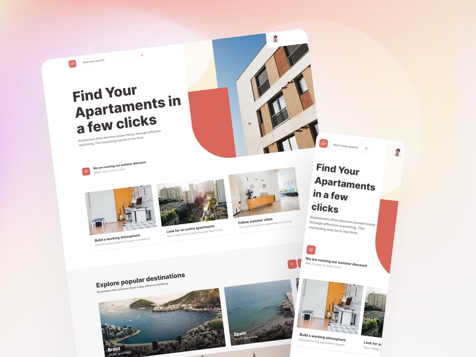 Roomsfy Web & Mobile UI Kit is Here  🎊🎉