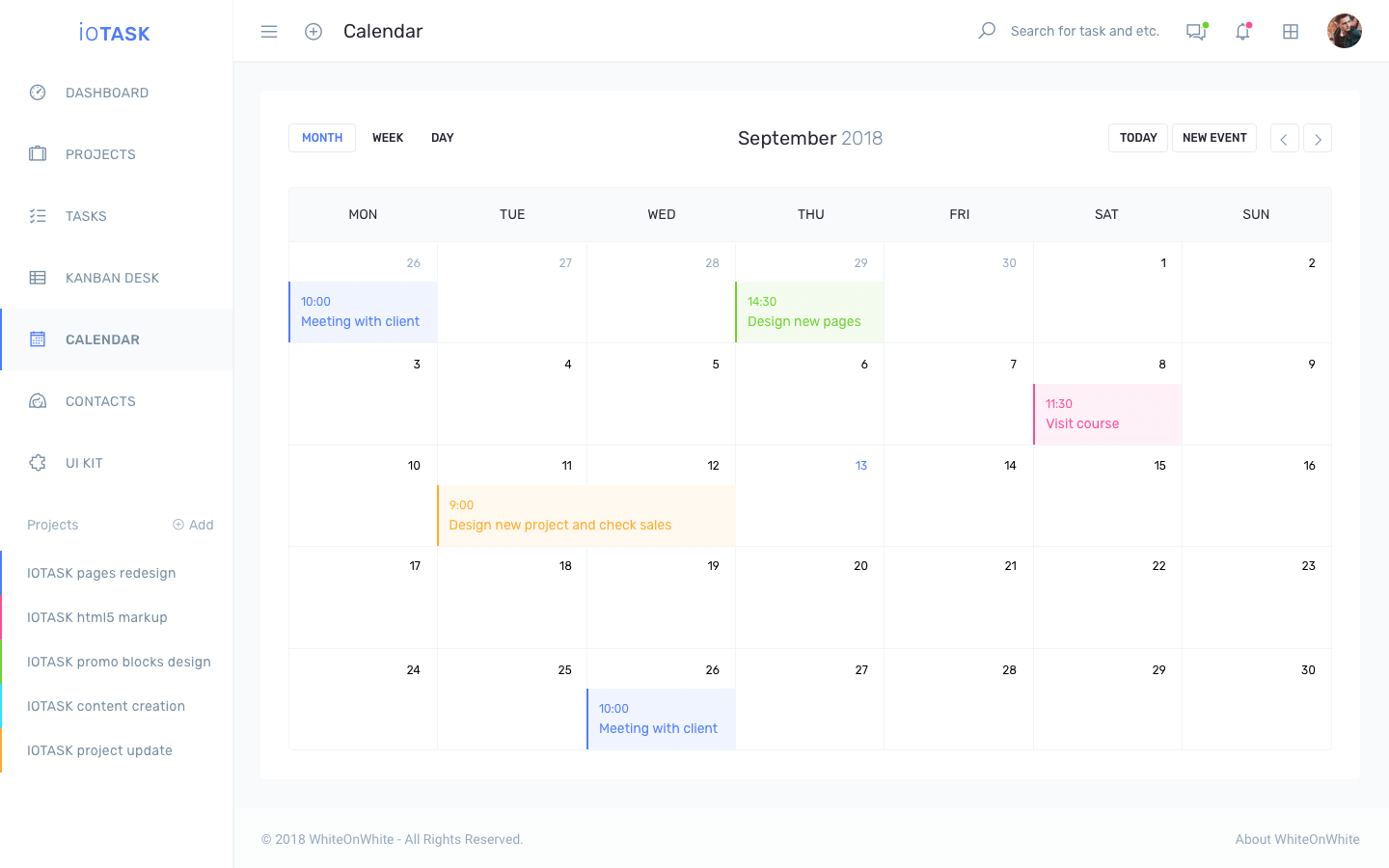 iotask preview calendar