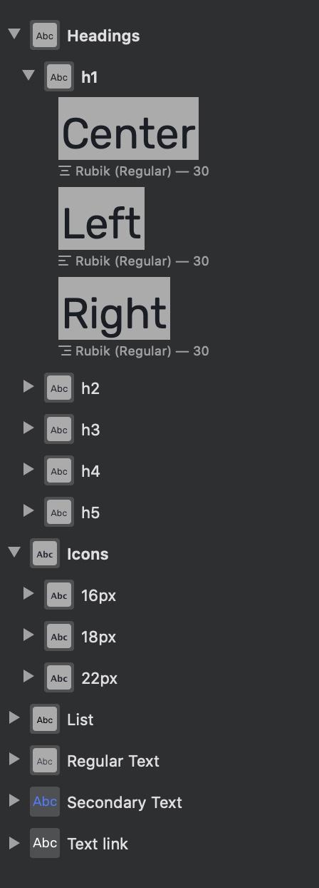 symbols selection