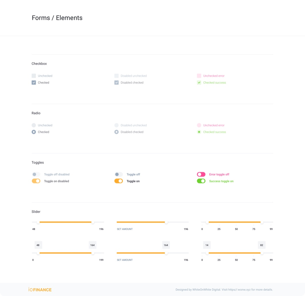 iofinance ui kit preview