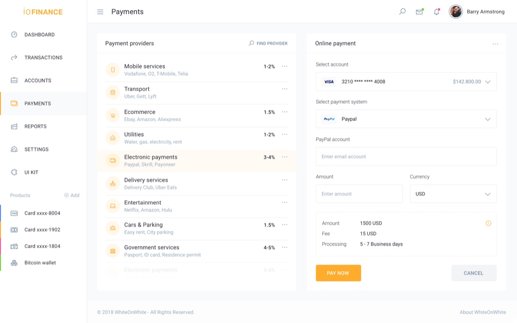 iofinance individual banking preview