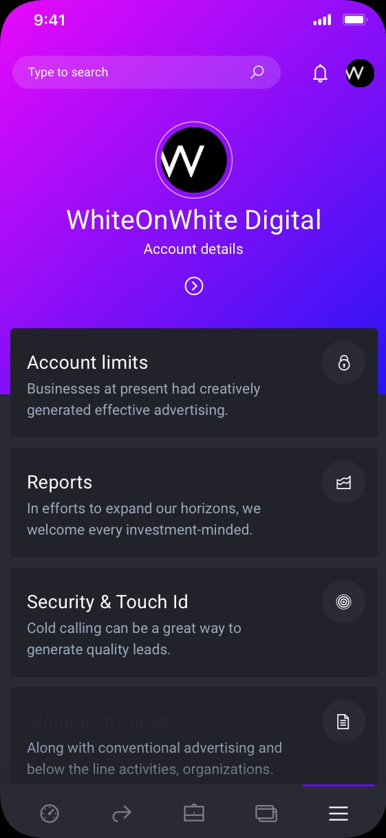 iowallet Banking corporate preview