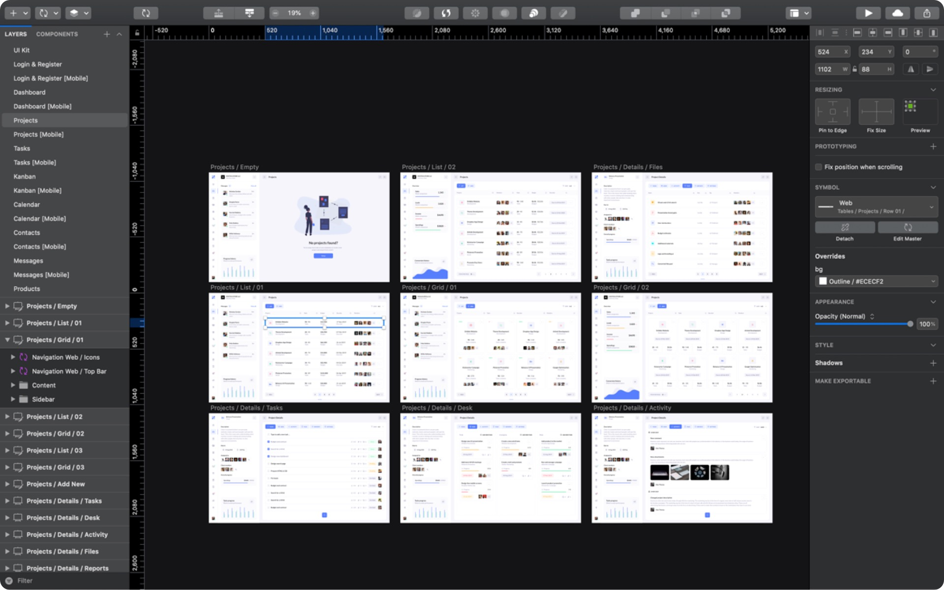 BetaCRM Sketch App UI Kit