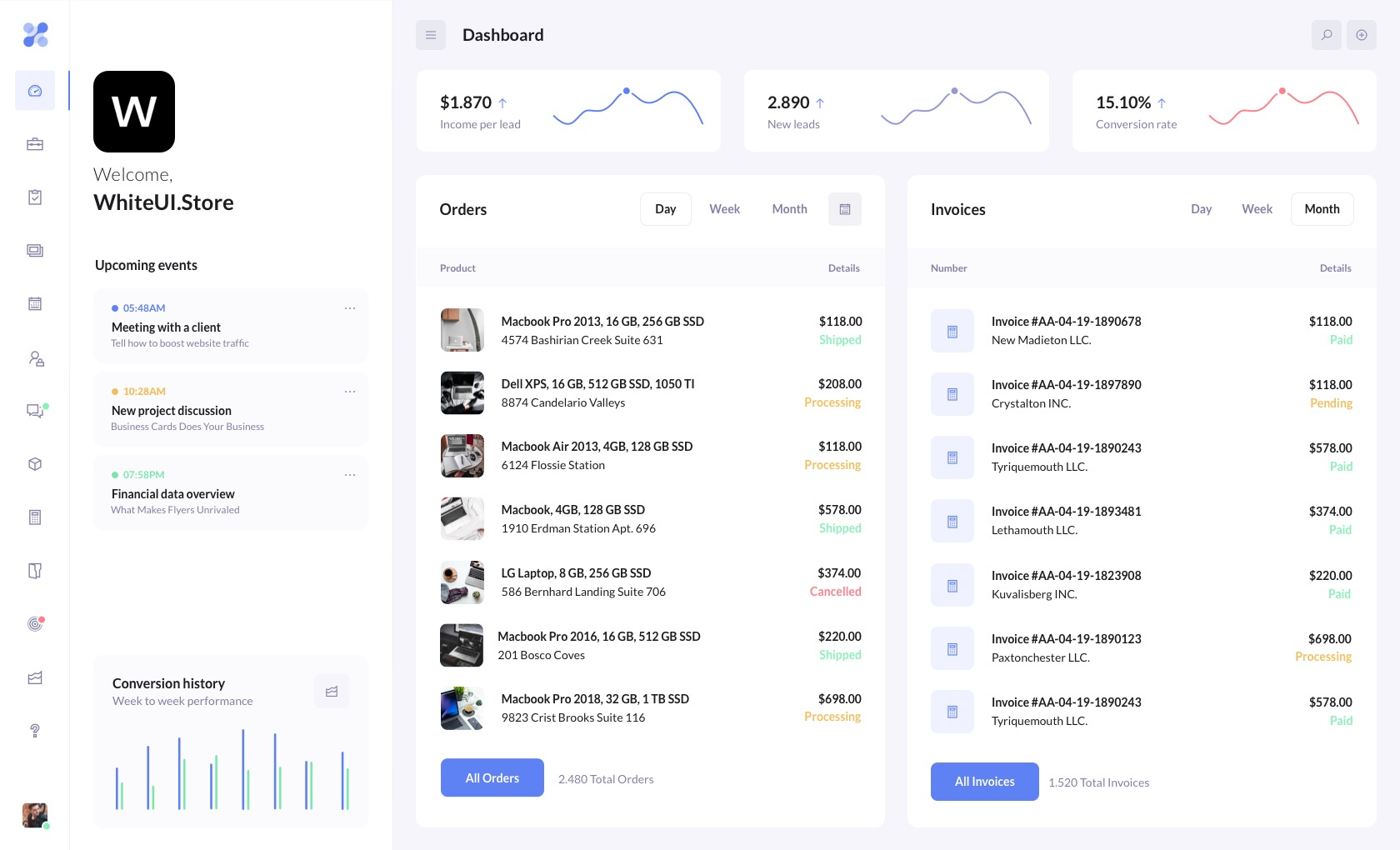 betacrm preview dashboard