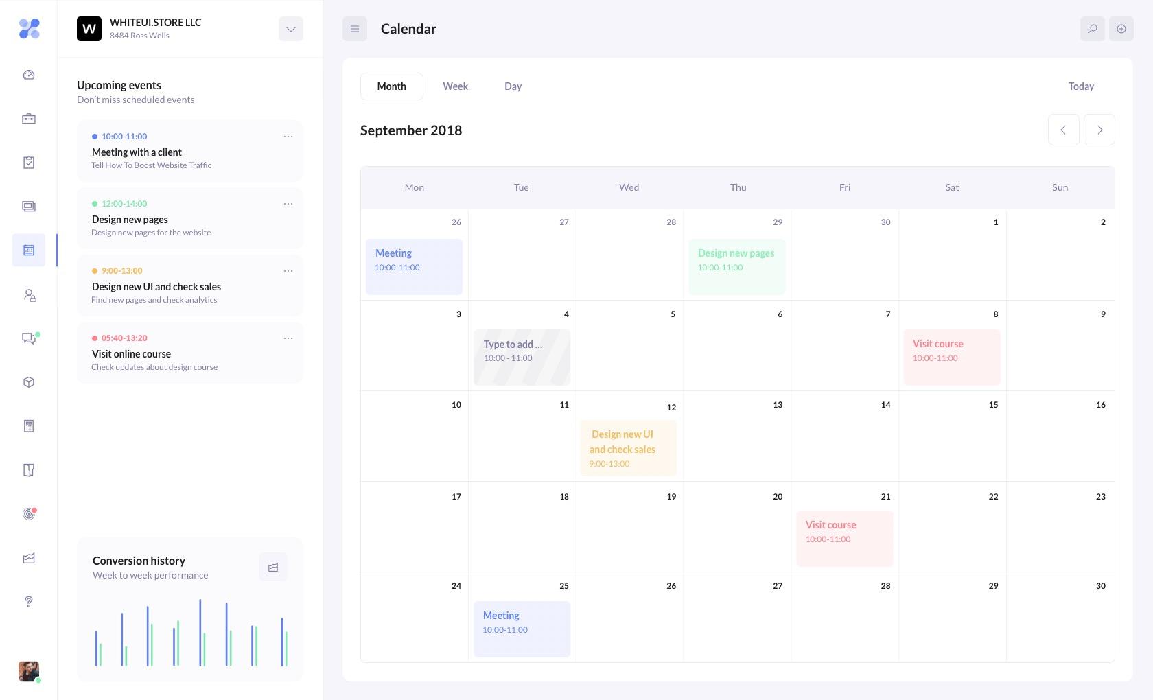 BetaCRM Calendar
