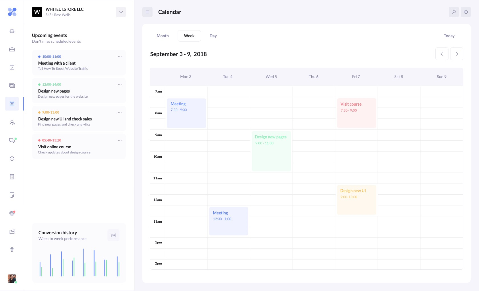 betacrm preview calendar