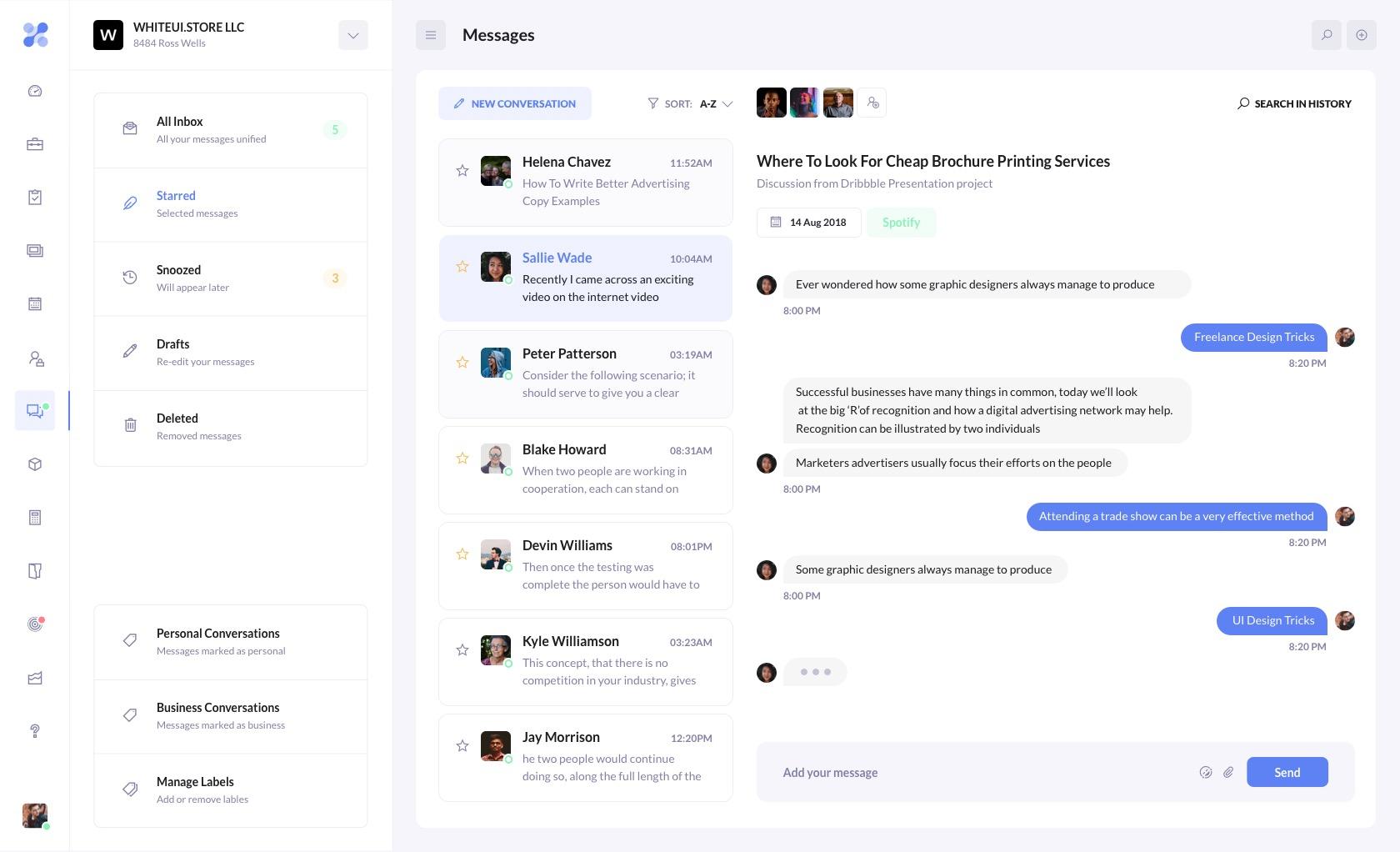 BetaCRM Messenger Template