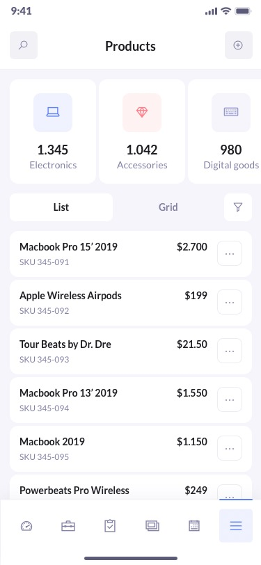 betacrm products preview mobile