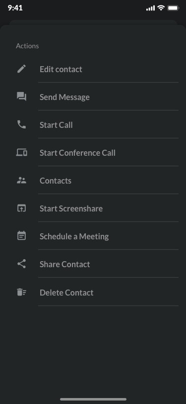 Contacts Preview