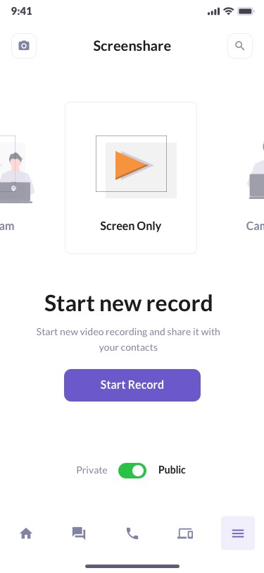 Screen Share Preview